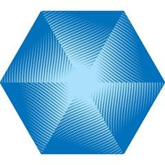 Blue Dot Pattern Mini Folding Umbrellas