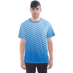 Blue Dot Pattern Men s Sport Mesh Tee