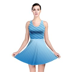 Blue Dot Pattern Reversible Skater Dress