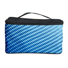 Blue Dot Pattern Cosmetic Storage Case