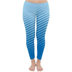 Blue Dot Pattern Classic Winter Leggings