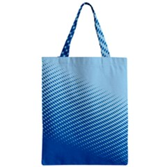 Blue Dot Pattern Zipper Classic Tote Bag