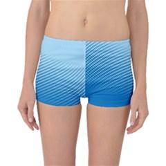 Blue Dot Pattern Boyleg Bikini Bottoms