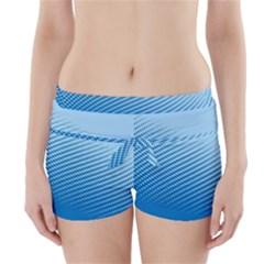 Blue Dot Pattern Boyleg Bikini Wrap Bottoms