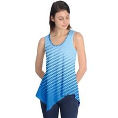 Blue Dot Pattern Sleeveless Tunic