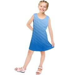 Blue Dot Pattern Kids  Tunic Dress