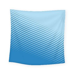 Blue Dot Pattern Square Tapestry (small)