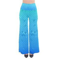 Blue Seamless Black Hexagon Pattern Pants