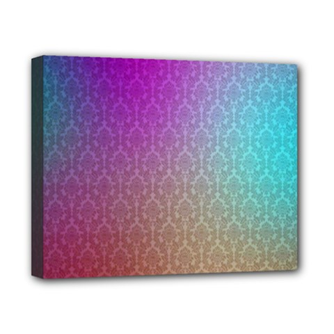 Blue And Pink Colors On A Pattern Canvas 10  x 8