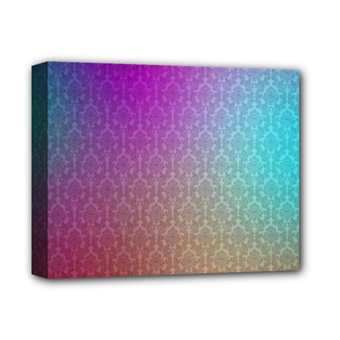 Blue And Pink Colors On A Pattern Deluxe Canvas 14  x 11