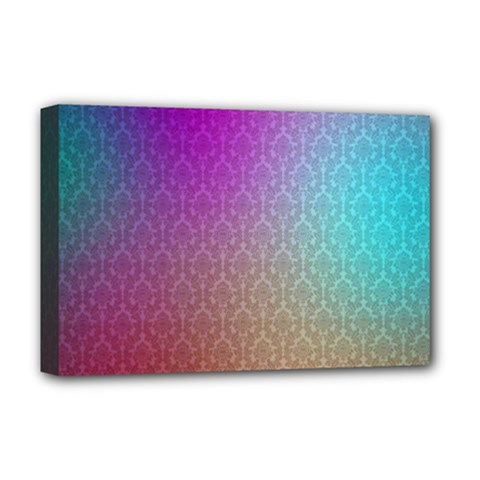 Blue And Pink Colors On A Pattern Deluxe Canvas 18  X 12