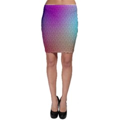 Blue And Pink Colors On A Pattern Bodycon Skirt