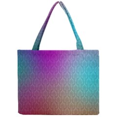 Blue And Pink Colors On A Pattern Mini Tote Bag