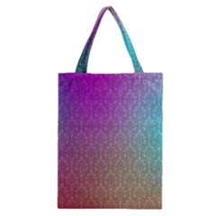 Blue And Pink Colors On A Pattern Classic Tote Bag