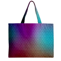 Blue And Pink Colors On A Pattern Zipper Mini Tote Bag