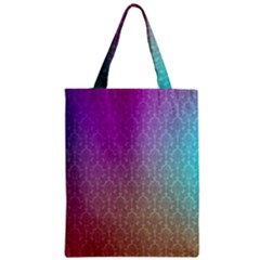 Blue And Pink Colors On A Pattern Zipper Classic Tote Bag
