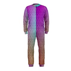 Blue And Pink Colors On A Pattern Onepiece Jumpsuit (kids)