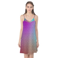 Blue And Pink Colors On A Pattern Camis Nightgown