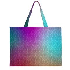 Blue And Pink Colors On A Pattern Large Tote Bag