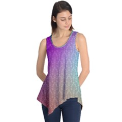 Blue And Pink Colors On A Pattern Sleeveless Tunic