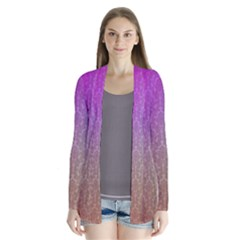 Blue And Pink Colors On A Pattern Cardigans