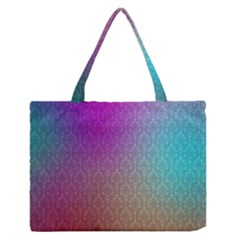 Blue And Pink Colors On A Pattern Medium Zipper Tote Bag