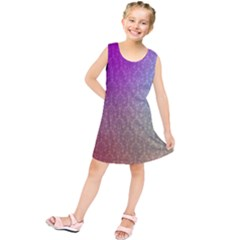 Blue And Pink Colors On A Pattern Kids  Tunic Dress