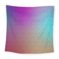 Blue And Pink Colors On A Pattern Square Tapestry (large)