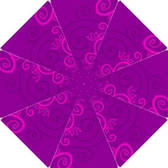 Floraly Swirlish Purple Color Hook Handle Umbrellas (small)