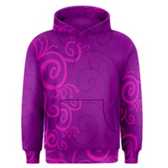 Floraly Swirlish Purple Color Men s Pullover Hoodie