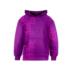 Floraly Swirlish Purple Color Kids  Pullover Hoodie