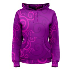 Floraly Swirlish Purple Color Women s Pullover Hoodie
