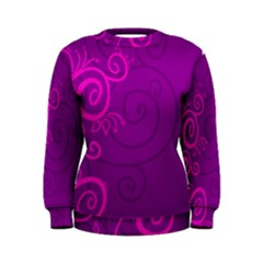 Floraly Swirlish Purple Color Women s Sweatshirt