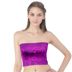 Floraly Swirlish Purple Color Tube Top