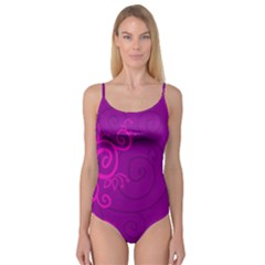 Floraly Swirlish Purple Color Camisole Leotard