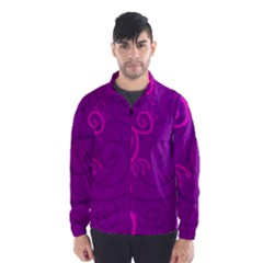 Floraly Swirlish Purple Color Wind Breaker (men)