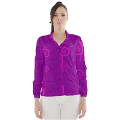 Floraly Swirlish Purple Color Wind Breaker (women)