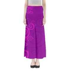 Floraly Swirlish Purple Color Maxi Skirts