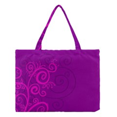 Floraly Swirlish Purple Color Medium Tote Bag