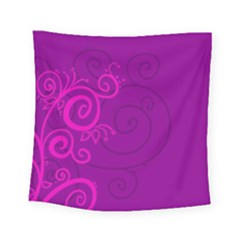 Floraly Swirlish Purple Color Square Tapestry (small)