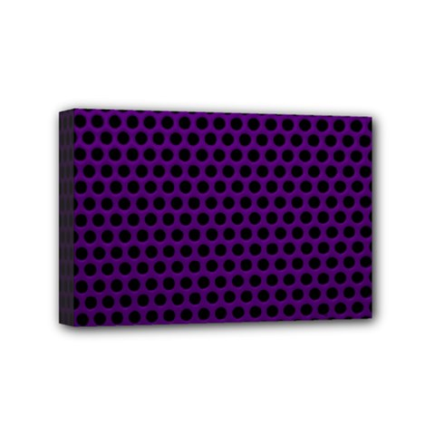 Dark Purple Metal Mesh With Round Holes Texture Mini Canvas 6  X 4