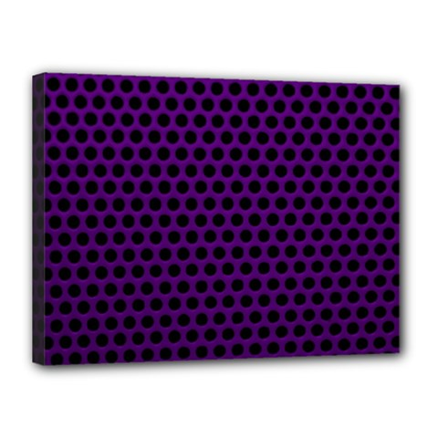 Dark Purple Metal Mesh With Round Holes Texture Canvas 16  X 12