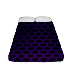 Dark Purple Metal Mesh With Round Holes Texture Fitted Sheet (full/ Double Size)