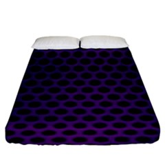 Dark Purple Metal Mesh With Round Holes Texture Fitted Sheet (king Size)