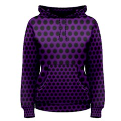 Dark Purple Metal Mesh With Round Holes Texture Women s Pullover Hoodie
