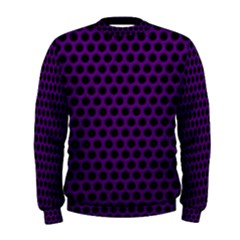 Dark Purple Metal Mesh With Round Holes Texture Men s Sweatshirt