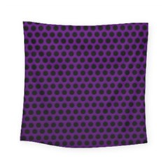 Dark Purple Metal Mesh With Round Holes Texture Square Tapestry (small)