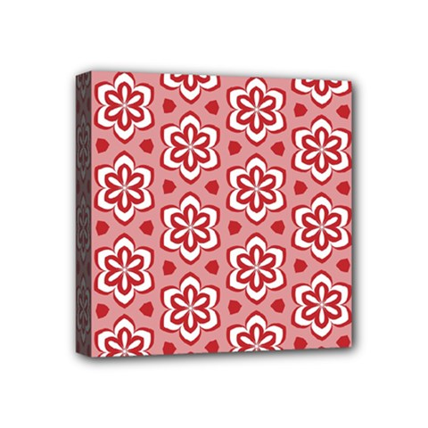 Floral Abstract Pattern Mini Canvas 4  X 4