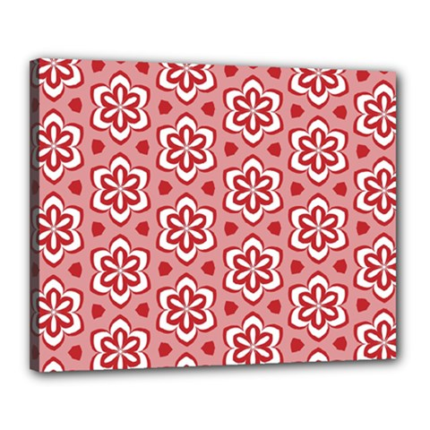 Floral Abstract Pattern Canvas 20  X 16