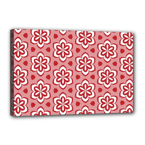 Floral Abstract Pattern Canvas 18  X 12